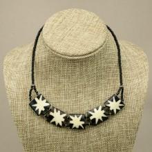 Star Burst Cow bone Choker Necklace
