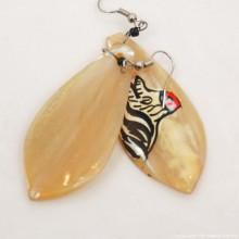 Zebra Cow Horn Earrings 324-13