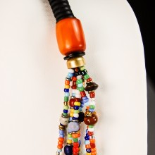 Maasai Necklace Mixed Material Bead 717-58