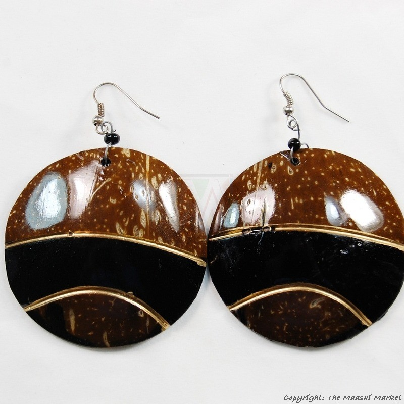 Coconut Shell Earrings 721-1-99
