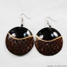 Coconut Shell Earrings 721-2-99