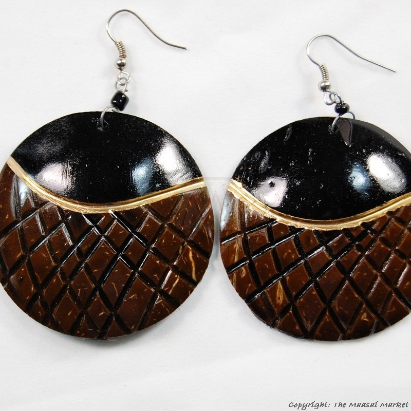 Coconut Shell Earrings 721-2-99