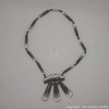 Cow Bone Batik Pendant Necklace
