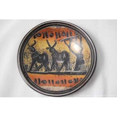 """Kisii Soapstone Elephant Plate/ Bowl 6"""" SBE-08"""