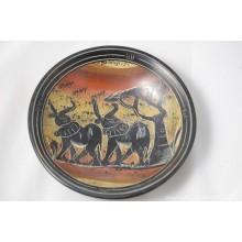 """Kisii Soapstone Elephant Plate/ Bowl 6"""" SBE-12"""