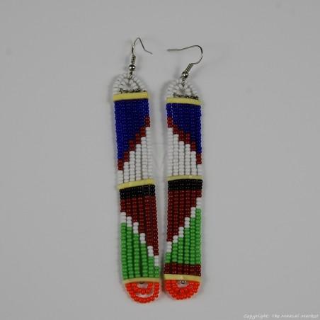 Maasai Glass Beads Multi Color Earrings 231-377