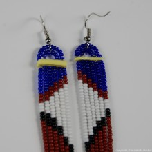 Maasai Glass Beads Multi Color Earrings 231-380