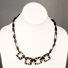 Star Burst Cow bone Necklace 15-46