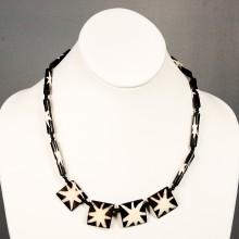Star Burst Cow bone Necklace 15-46