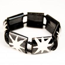 Batik Star Burst Print Stretch Bone Bracelet 273-32