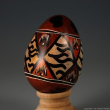 Wildlife Print Kisii Soapstone Easter Eggs