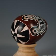 Zebra Kisii Soapstone Easter Eggs