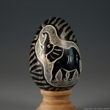 Elephant Kisii Soapstone Easter Eggs