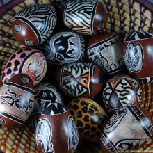 Giraffe Kisii Soapstone Easter Eggs