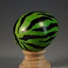 Green Tiger Print Kisii Soapstone Easter Eggs