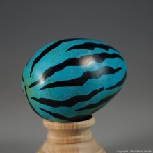Blue Tiger Print Kisii Soapstone Easter Eggs