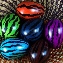 Dark Blue Tiger Print Kisii Soapstone Easter Eggs