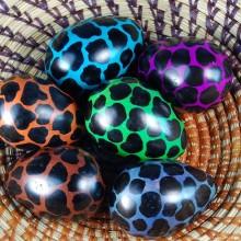 Orange Giraffe Print Kisii Soapstone Easter Eggs