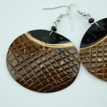 Coconut Shell Earrings 741-2-57