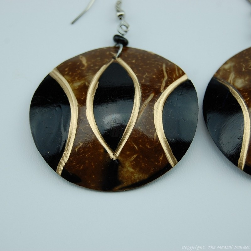 Coconut Shell Earrings 741-3-57