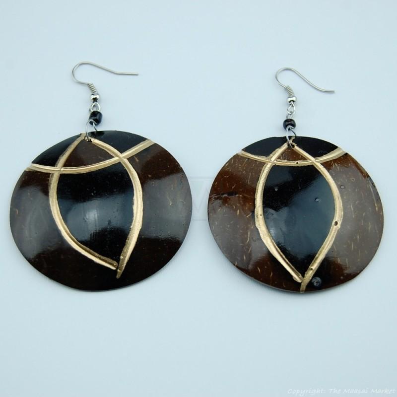Coconut Shell Earrings 741-4-57