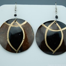 Coconut Shell Earrings 741-4-57
