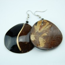 Coconut Shell Earrings 741-5-57