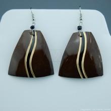 Coconut Shell Earrings 742-1-49