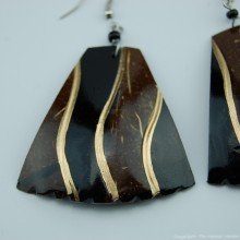 Coconut Shell Earrings 742-2-49