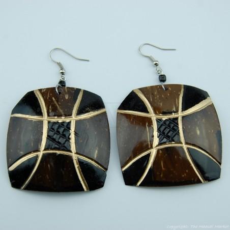Coconut Shell Earrings 742-3-49