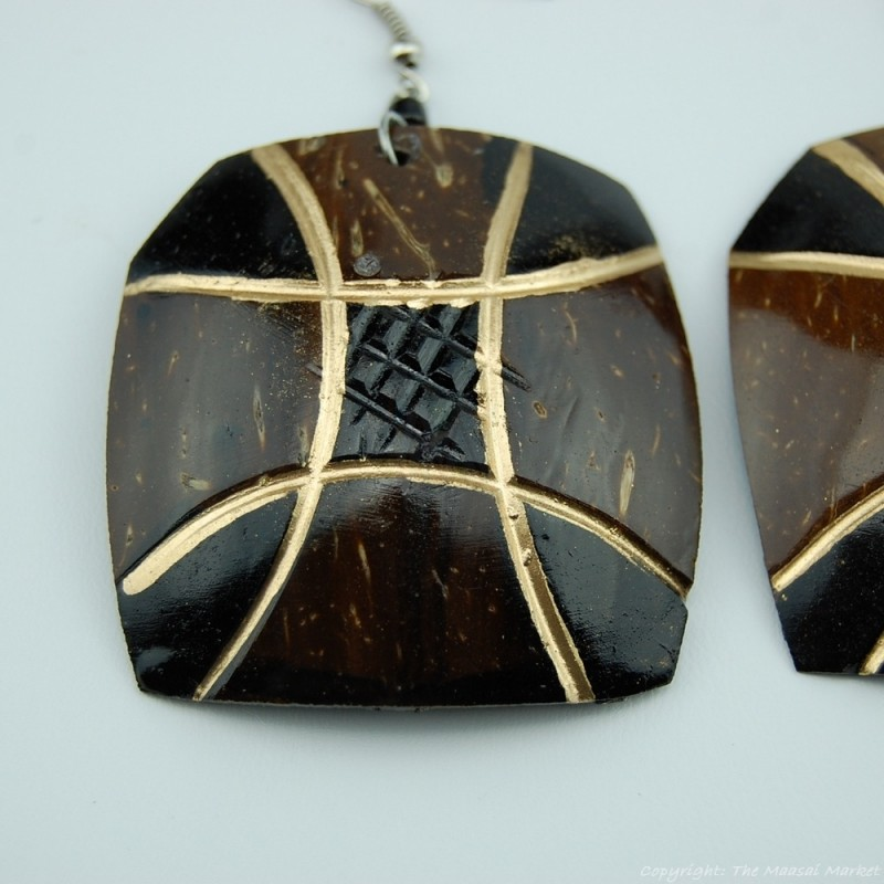 Coconut Shell Earrings 742-3-49