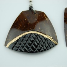 Coconut Shell Earrings 742-4-49
