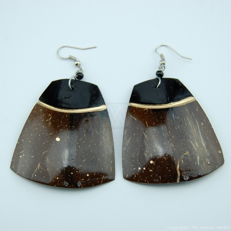 Coconut Shell Earrings 742-5-49