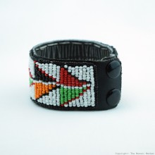 Maasai Bead Leather Bracelet Cuff 411-40
