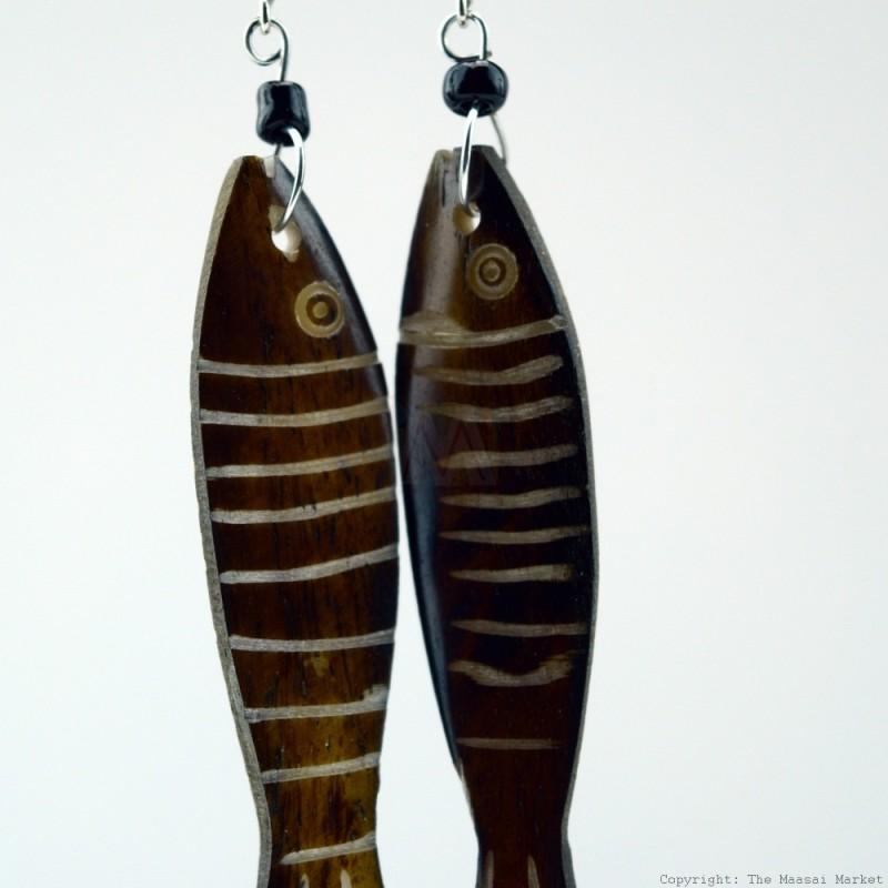 Cow Bone Fish Earrings 704-1-97