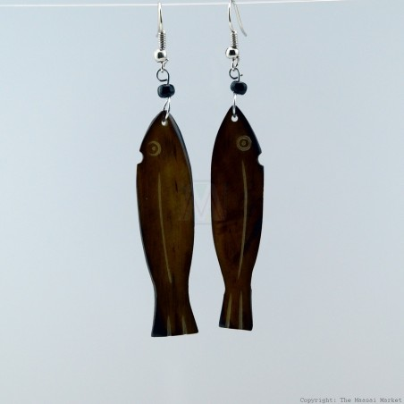 Cow Bone Fish Earrings 704-2-97
