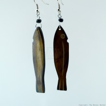 Cow Bone Fish Earrings 704-2-97