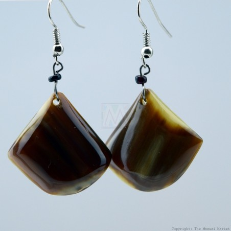 Cow Horn Dangle Earrings 328-96